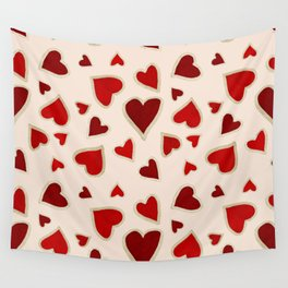 Ditsy dark hearts for lovers Wall Tapestry