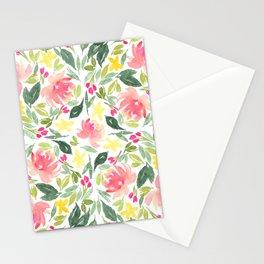 Peonies & Wild Flowers Stationery Cards