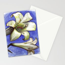 Easter Lily Stationery Cards