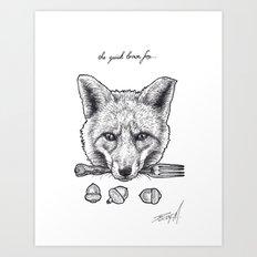 Quick Brown Fox Art Print