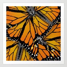 MONARCH BUTTERFLIES MONTAGE NATURE DESIGN Art Print
