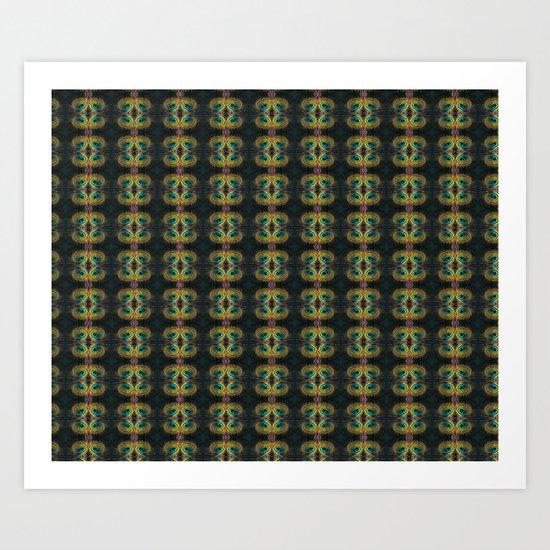 Peacock Bead Abstract Art Print