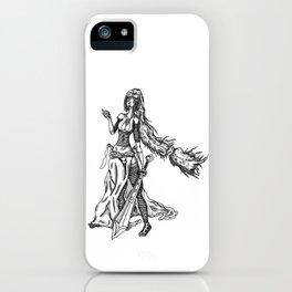 jasmina black and white iPhone Case