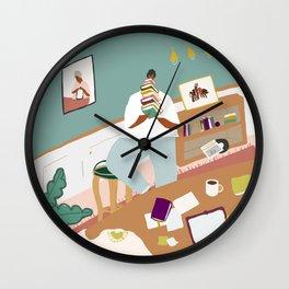 Perks of a Library Card Wall Clock