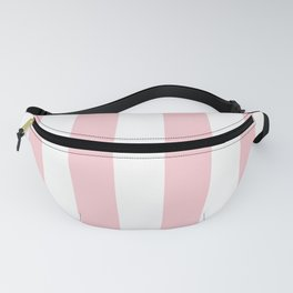 Large White and Light Millennial Pink Pastel Circus Tent Stripe Fanny Pack