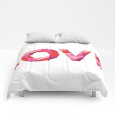 Red Faceted Love Comforters