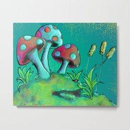 Toadstools & Mushrooms Metal Print
