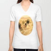 return V-neck T-shirts featuring Return Home by Vargamari