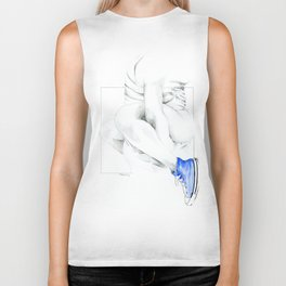 NUDEGRAFIA - 56  the girl with blue tennis shoes Biker Tank