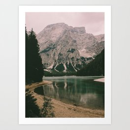Braies Lake #1 Art Print
