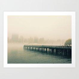 Misty Path Art Print