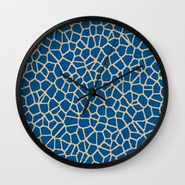 staklo (dark blue with coffee) Wall Clock