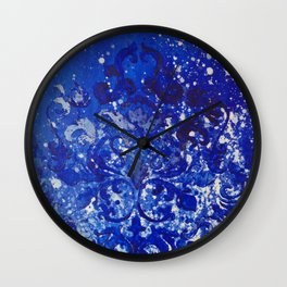 Monochrome Blue Wall Clock