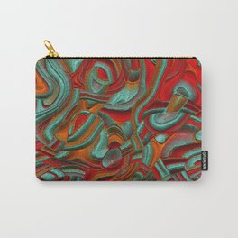 Peppy abstract Art Deco C Carry-All Pouch