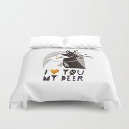 I love you my deer Duvet Cover