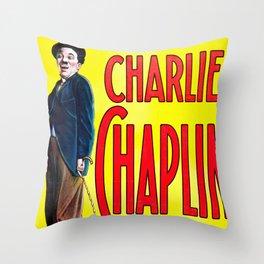 Charlie Chaplin - A Burlesque on Carmen, 1916 Vintage Poster for Wall Art, Prints, Poster, Tshirts, Men, Women, Kids Throw Pillow