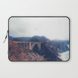 beautiful landscape at Bixby bridge, Big Sur, California, USA Laptop Sleeve