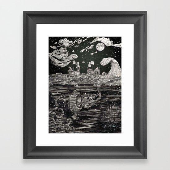 Jupiter's Guide For Submariners Framed Art Print