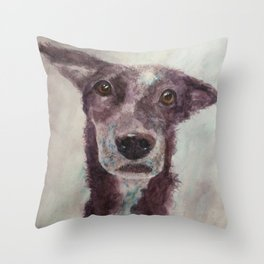 Parson, the cattle dog Throw Pillow