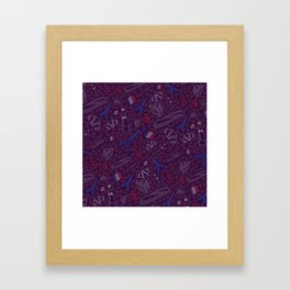 French pattern Framed Art Print
