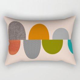 Mid-Century Modern Ovals Abstract Rectangular Pillow