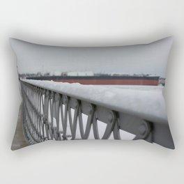 Snow-capped Bridge Rectangular Pillow
