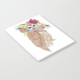 Owl with flower crown Notebook