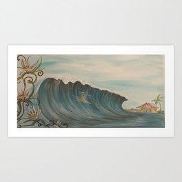 Surfer girl 2 Art Print