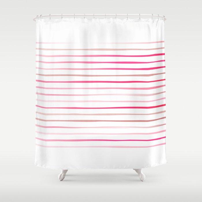 Irregular Stripes Candy Shower Curtain