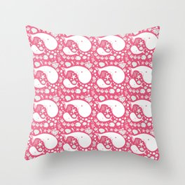 The Whales dance Throw Pillow