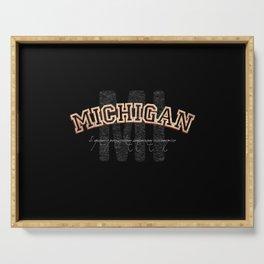 Michigan Vintage Retro Collegiate Serving Tray