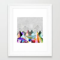 mountain Framed Art Prints featuring Colorflash 3 by Mareike Böhmer