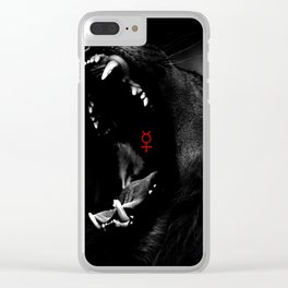 Roaring Animal Mouth Clear iPhone Case