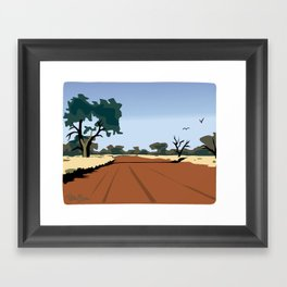 CA dirt road Framed Art Print