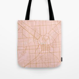 Pink and gold Adelaide map Tote Bag