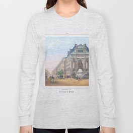 Paris Decor office decoration vintage decor FONTAINE St MICHEL of Paris Long Sleeve T-shirt
