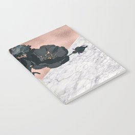 Floral marble rose gold Notebook