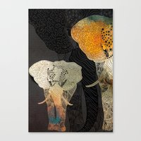 elephants Canvas Prints featuring Elephants by Krismarx