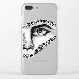 BLACK EYE PATTERN Clear iPhone Case