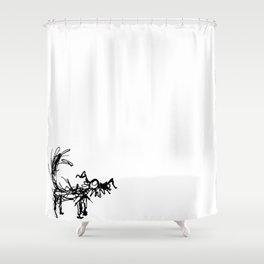 Chandoso Terrier Shower Curtain