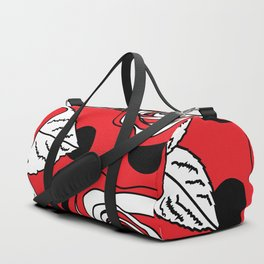 Roses and Dots on Red Duffle Bag