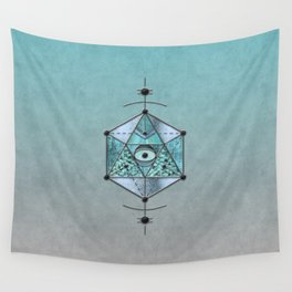 Sacred Geometry Eye Of Protection Wall Tapestry