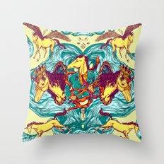 Unicorns Warriors Unicorns Throw Pillow
