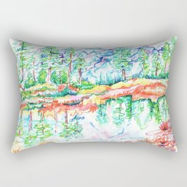 Colorful landscape Rectangular Pillow