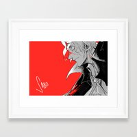 mad Framed Art Prints featuring Mad by yamineftis