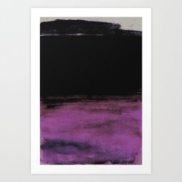Purple and Black Art Print