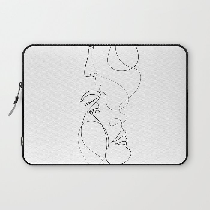 Lovers - Minimal Line Drawing Art Print 2 Laptop Sleeve