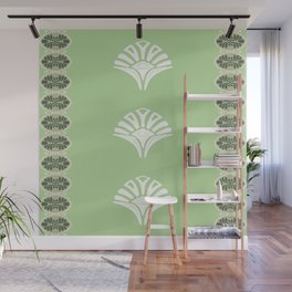 S6 Abbey Chic Classique Pattern (green) Wall Mural