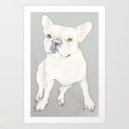 """Frenchie Love"" Art Print"