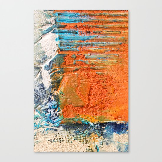 OPUS VARIAE I - Abstract mixed-media painting Canvas Print